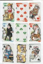 Collectable Swiss playing cards. Joker Tell. by artist Roland Gazzotti,